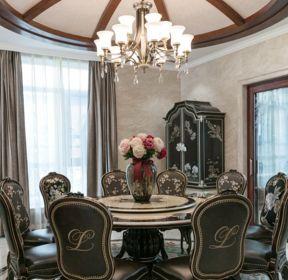 新古典風格餐廳吊燈裝潢設計效果圖-每日推薦