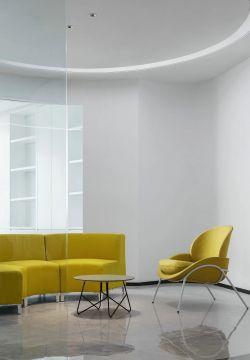 公司辦公室接待區沙發裝修設計圖