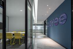 公司辦公室走廊背景墻裝修設計圖