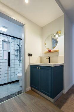 北歐風格80平新房室內洗手臺設計效果圖