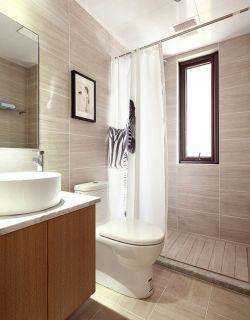現代簡約衛生間浴簾隔斷裝修圖片2020