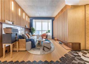木背景墙效果图  客厅沙发装修图