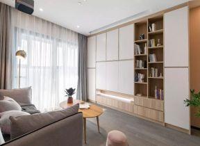 电视柜墙 北欧客厅装修 电视柜墙效果图