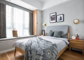 北欧卧室效果图 北欧卧室装修效果 卧室飘窗帘装修效果图