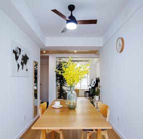 80平方米房子餐厅风扇灯装修图片大全-每日推荐
