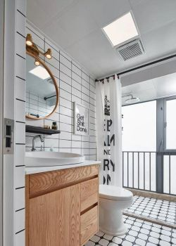 80平北歐風格衛浴間裝修設計圖