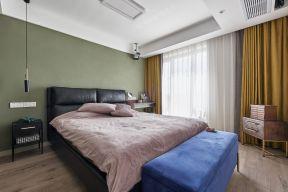 臥室床尾凳 臥室窗簾裝飾圖 臥室窗簾顏色搭配