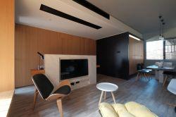 110平方簡約客廳電視墻造型裝修效果圖