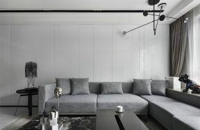 現代客廳裝飾效果圖 布藝沙發圖片