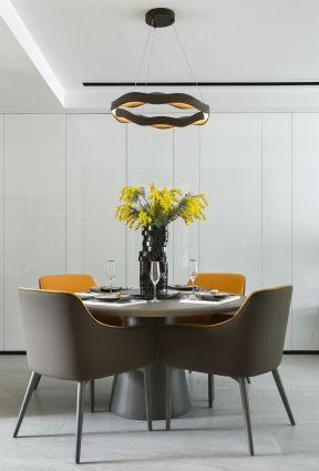 簡約餐廳裝修圖片 簡約餐廳裝修 圓形餐桌圖