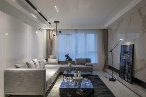 簡約客廳裝飾圖 布藝沙發設計圖