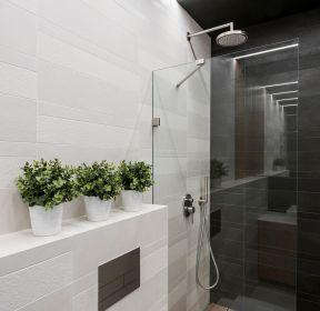 110平方衛浴間玻璃隔斷裝修效果圖-每日推薦