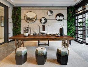 新中式茶室效果圖 新中式茶室裝修效果圖 茶室中式裝修