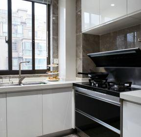 簡約風格廚房白色櫥柜設計實景圖-每日推薦