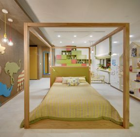 大戶型兒童房墻面造型裝修效果圖片-每日推薦