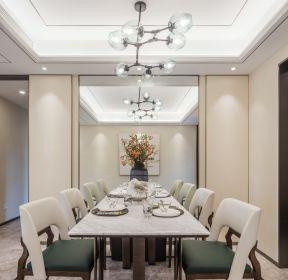 簡約樣板房餐廳燈具裝潢設計效果圖-每日推薦