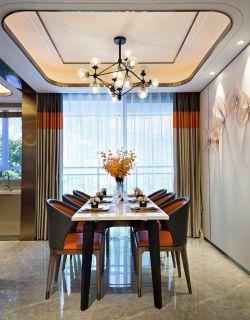 樣板房餐廳吊頂裝修設計實景圖2020