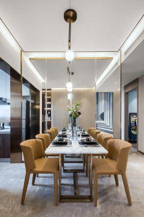 餐廳鏡面墻裝修效果圖 簡約餐廳裝修圖片 簡約餐廳裝飾圖片