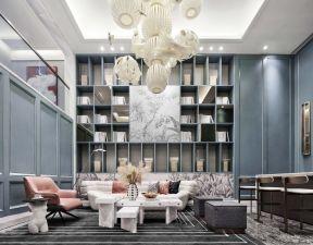 書柜背景墻效果圖 書柜背景墻 別墅客廳裝修設計