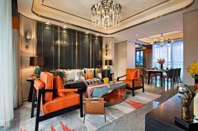 樣板房客廳 客廳沙發背景墻裝飾