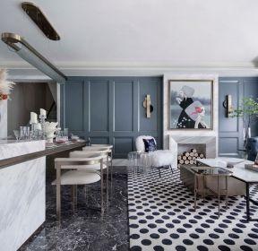 法式別墅樣板房客廳裝修設計實景圖-每日推薦