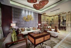 東南亞風格客廳沙發裝修設計圖片