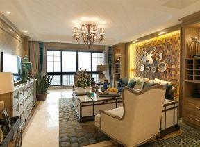 東南亞客廳效果圖片 東南亞客廳風格 客廳沙發背景墻裝修效果圖
