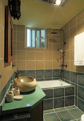 洗手臺裝飾設計效果圖 東南亞衛生間裝修效果圖片