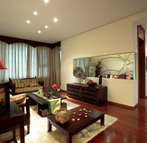 東南亞風格房屋客廳家具裝修布局圖片-每日推薦