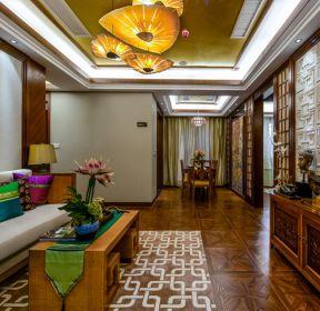 東南亞風格客廳燈具裝修效果圖片-每日推薦