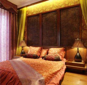 東南亞風格臥室床頭造型裝修圖片-每日推薦