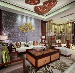 東南亞風格客廳沙發裝修設計圖片-每日推薦
