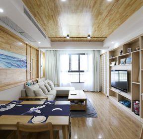 100平米日式客廳吊頂裝修效果圖-每日推薦