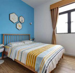 100平米臥室藍色墻面裝修效果圖-每日推薦