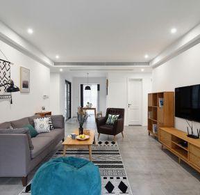 100平米歐式客廳原木電視柜裝修效果圖-每日推薦