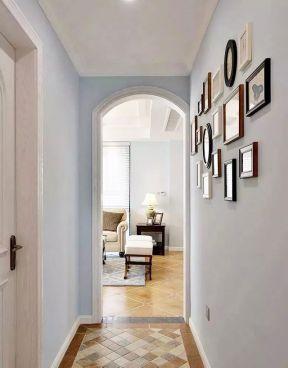 走廊照片墻效果圖 室內走廊裝修設計 室內走廊裝飾效果圖