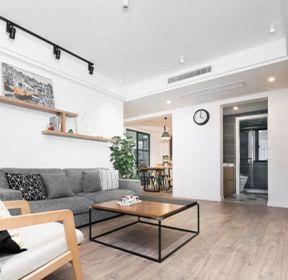 三房二廳客廳沙發背景墻置物架裝修效果圖-每日推薦