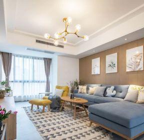 三房二廳客廳轉角沙發裝修效果圖片-每日推薦