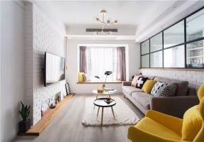 文化磚電視墻 客廳電視墻造型圖 客廳電視墻效果圖
