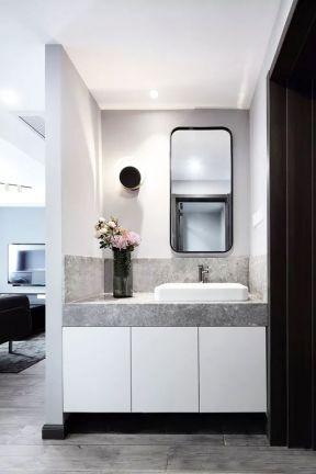 洗手臺裝飾設計效果圖 洗手臺裝修圖 洗漱臺效果圖