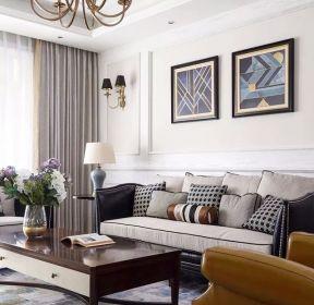 65平米兩室一廳沙發背景墻裝修效果圖-每日推薦