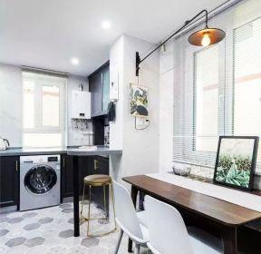 65平米兩室一廳裝修北歐廚房餐廳效果圖-每日推薦