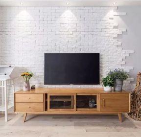 65平米兩室一廳客廳電視柜裝修效果圖-每日推薦
