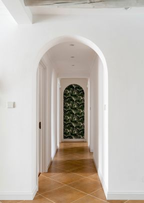 歐式走廊吊頂裝修效果圖 室內走廊裝修設計