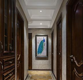 歐式古典風格房子過道走廊吊頂裝修圖-每日推薦