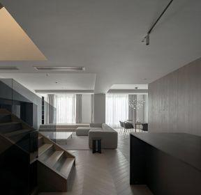 黑白灰風格復式樓室內裝修設計圖片-每日推薦