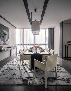 现代简约风格别墅餐厅装修效果图2020图片