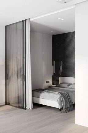 公寓臥室裝修效果圖 公寓臥室裝修 臥室玻璃門圖片