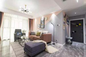 绿城水岸现代风格96平米二居室装修案例
