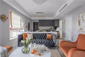 毓秀园美式风格116平米三居室装修案例